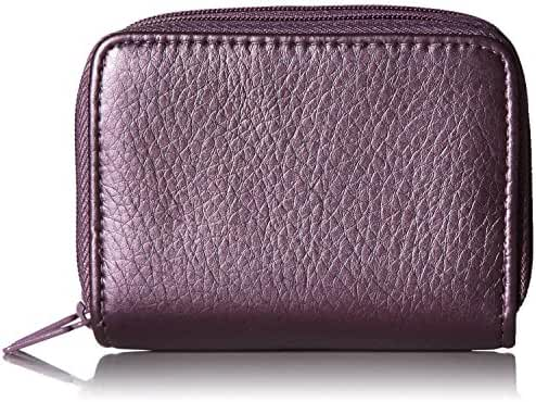 Buxton Faux Leather RFID Identity Safe Double Zippered Accordion Wallet